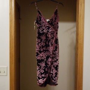 NWT Adam Levine Black and Purple Romper Dress